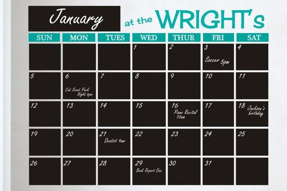 Large Personalized Wall Calendar