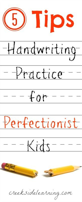 Handwriting Practice for Perfectionist Kids {5 Tips | Handwriting ...