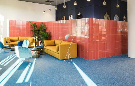 Bolon Artisan Petroleum flooring in the office of Zalando in Berlin, Germany.