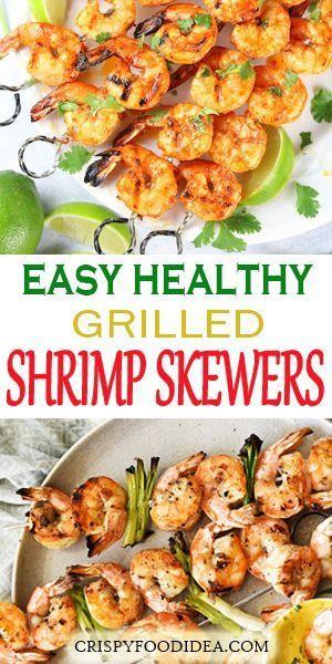 Grilled Shrimp Garlic Skewers