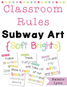 Make your classroom rules stand out with these cheerful subway-style posters!