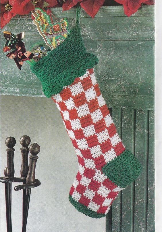 Christmas Stockings Stockings And Crochet Patterns On
