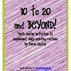 Set of center activities that can be mixed and matced to supplement daily counting routines.Includes 1, 2, and 3 digit number cards for creating ...
