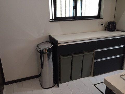 リクシルマルチスペースのゴミ箱問題 キッチンカウンター おしゃれ ゴミ箱 シンプル キッチンツール 収納