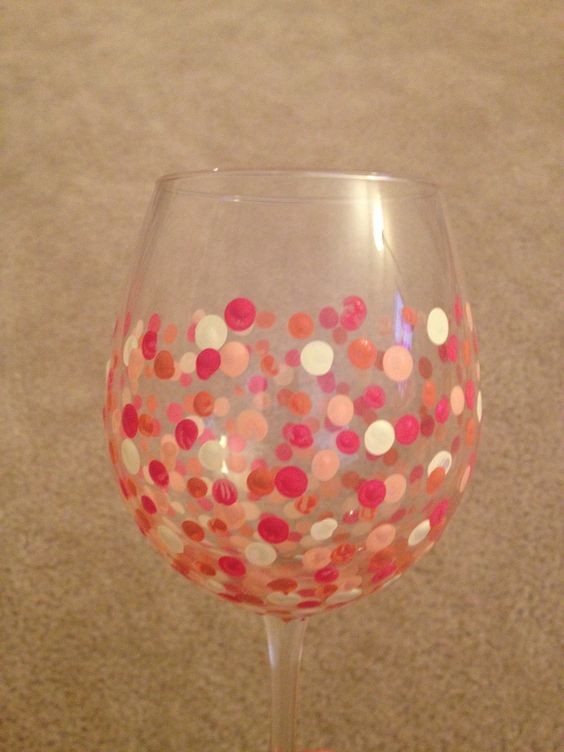 Diy wine glasses with pencil erasers buy acrylic paint i for Baking enamel paint on glass