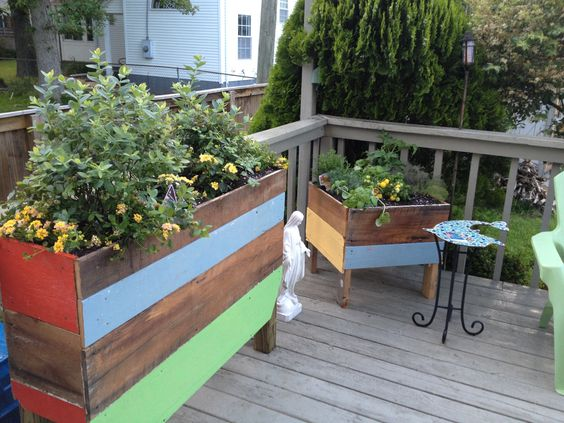 Deck container garden from reclaimed wood - Virginia Beach house - Deck Container Garden From Reclaimed Wood - Virginia Beach House