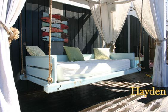bed swings on porches = heaven