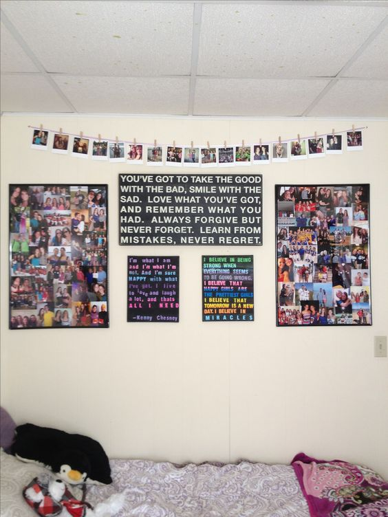 Dorm Picture Hanging Ideas My Pinterest Attempts