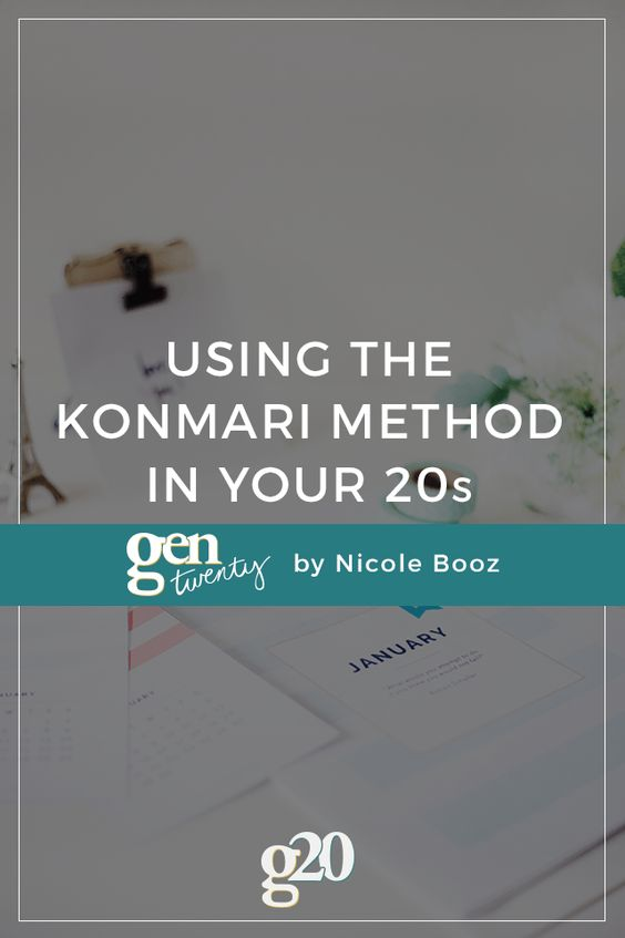 As a twenty-something, you probably don't have a home full of junk just yet. And that's why your 20s are the PERFECT time to start using the KonMari Method. Click through to learn how! #minimalism: