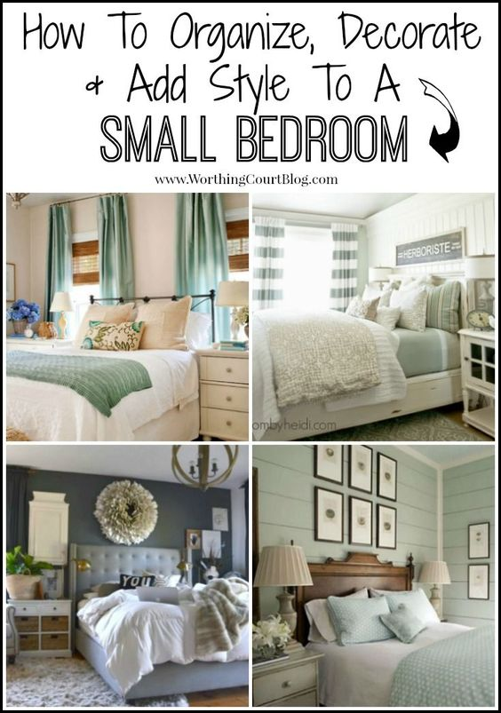 Small bedroom decorating ideas style chic and a small for Very small double bedroom ideas