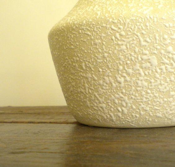 LARGE Mid Century Spatter Glaze Pottery Vase by BeppieandEido