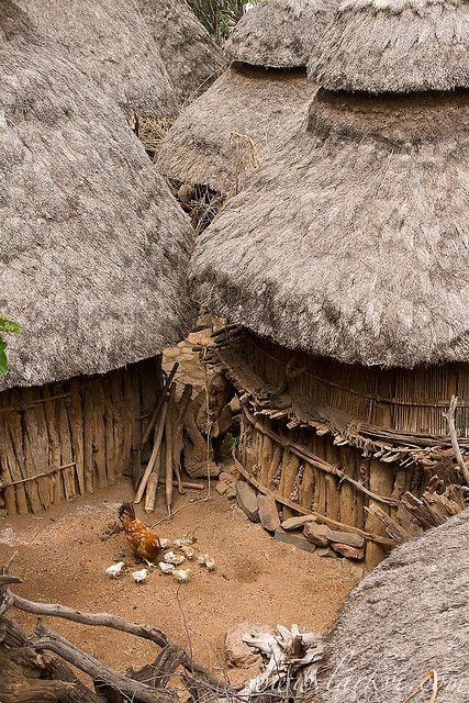 Africa | A typical scene in Konso Village, in Southern Ethiopia. | © Sean Winslow: