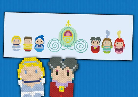 Cinderella Princess parody  Cross stitch PDF por cloudsfactory