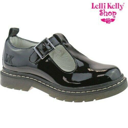 DB01 Lelli Kelly  Black Patent Frankie Dolly School Shoes LK8286