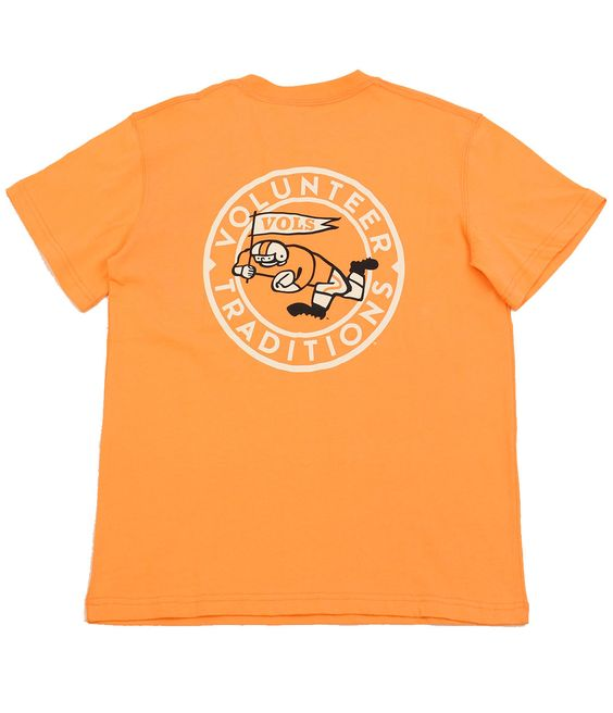 Running Man Orange Peel Tee - This throwback retro Vols Logo Tee will bring back memories when you put it on. It comes in this great washed orange peel color! tyalexanders.com