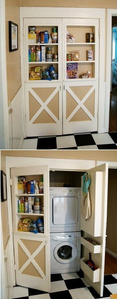 Storage ideas laundry rooms and laundry on pinterest Storage solutions for small laundry rooms