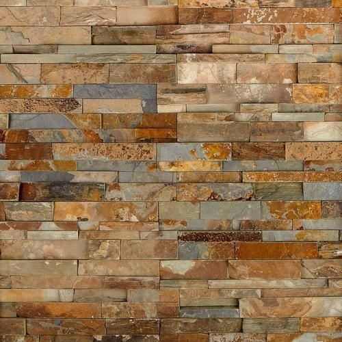 Brick Discover Rock Ridge Splitface Slate Panel Ledger 6 X 24 1 2 Inch Thick Floor Decor In 2020 Faux Stone Walls Faux Stone Panels Fireplace Tile