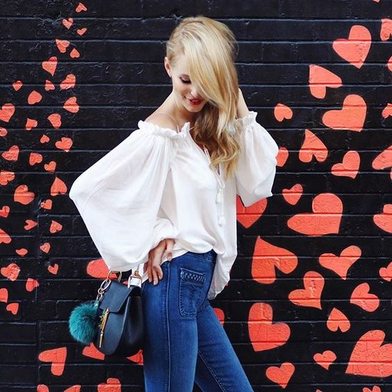 Lots of  l o v e  for NY | Wearing high-waisted flares by 7 For All Mankind!  You lucky girl... @liketoknow.it www.liketk.it/1Lzci #liketkit