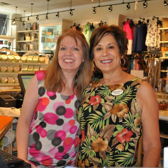 Kathy and Staci ready and waiting to help you pick out the perfect gift and latest fashion! #WalkOnWaterBoutiques