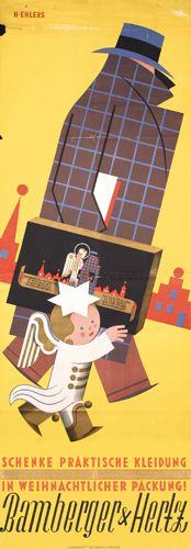 Bamberger & Hertz - Schenke praktische Kleidung in weihnachtlicher packung ! 1928 - (Henry Ehlers) -