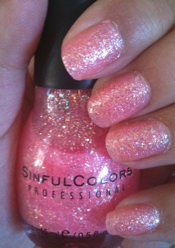 sinful colors pinky glitter - Vernis Sinful Colors