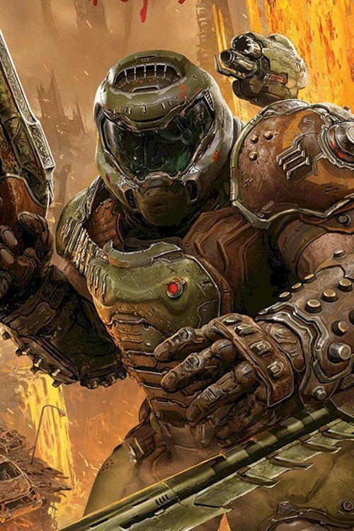 Doom Guy Wallpaper Doom Guy Wallpaper Doom Videogame Doom Game Doom