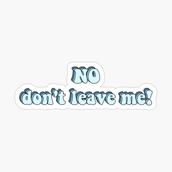 Don T Leave Me Tik Tok Trend Sticker By Flareapparel Vinyl Sticker Tik Tok Tok