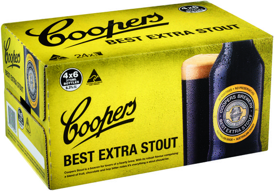 Bia Coopers Best Extra Stout 6,5%