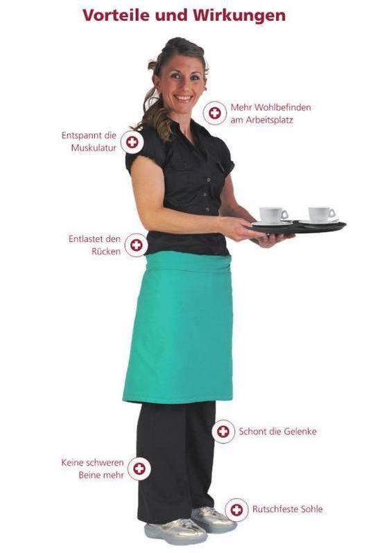 Der kyBoot entlastet die Füße auch im Berufsalltag  Dank der weichelastischen Luftsohle erleichtert der kyBoot das Gehen und das lange Stehen. Den Schuh nimmt man dank seines geringen Gewichts kaum war und die walk-on-air Sohle sorgt für eine optimale Dämpfung und entlastet den Körper spürbar. Erhältlich für Frauen und Männer in den Größen  34 1/3 bis 49 ab $340