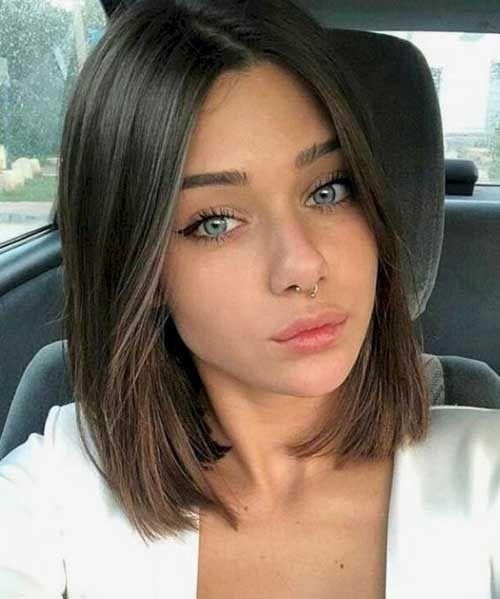 18++ Brunette bob hairstyles ideas