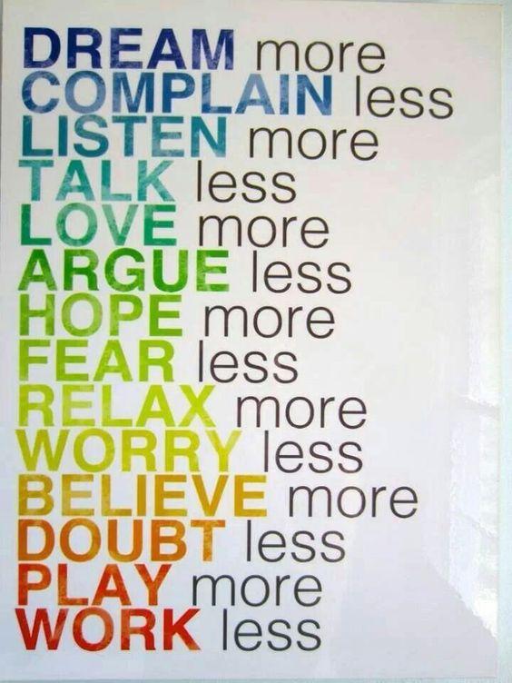Do more do less