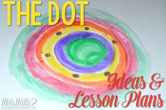 Here are lesson plans for The Dot by Peter H. Reynolds. Fantastic book for elementary classrooms. Math and literacy center ideas, art, craft, snack, reading, writing and more! Make International Dot Day fun with these activities.