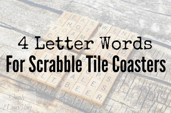 Scrabble Tile Coaster Word Ideas - A great list of word ideas broken out by category for your Scrabble Tile Coasters.