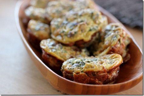 Mini Mushroom & Onion Frittata Muffins.