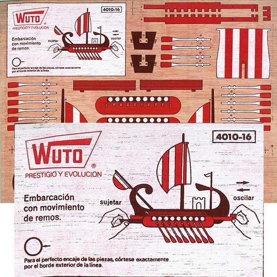 Navio de ruta mediterráneo de 16 remos con ingenioso sistema de movimiento realizado en madera contrachapada de 4.5 mm. serigrafiada a todo color por las dos caras.El navio se compone de 28 piezas perfectamente encajables con claras intrucciones y consejos para el montaje en folleto adjunto.Tamaño de la plancha: 30X40 cm.