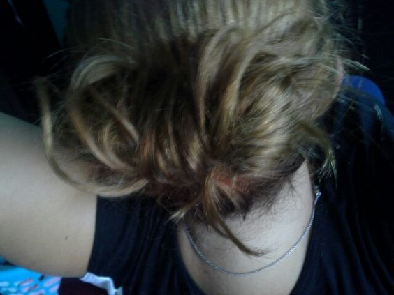 I did my own hair bow with my hair