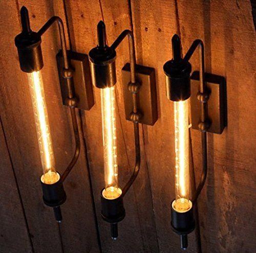 Bulbright 6pack Vintage Tubular Led Filament Bulb Dimmable T30 4w Led Light Bulb E26 Base Clear Warm White 2700k 40w Equivalent 1 In 2020 Wall Lamp Lamp Led Light Bulb