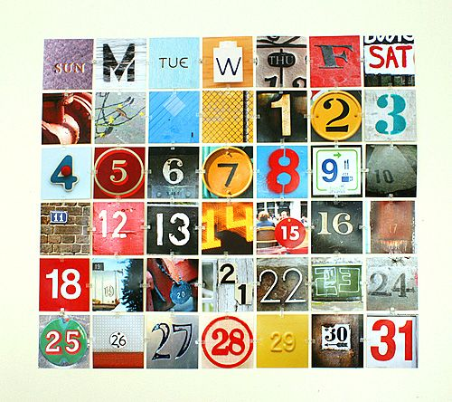 Want to spruce up your boring old office walls? Try out this idea for a DIY perpetual photo calendar!