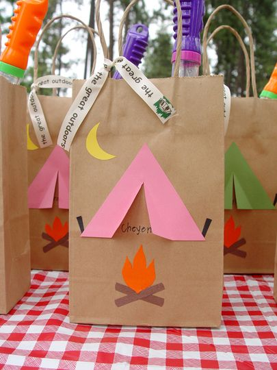 Favor Bags Bags And Camping Theme On Pinterest
