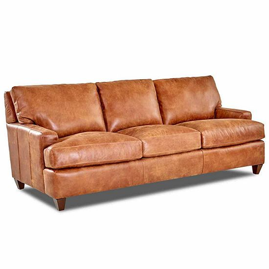 Calan Track Arm Leather Sofa Jcpenney Leather Sofa Sofa Track Arms