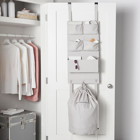 Over The Door Organizer With Hamper Bathroom Organization Diy