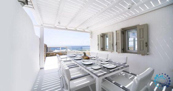 """Villa Alice"" in Mykonos, Greece. #luxury #villa #myprivatevillas"