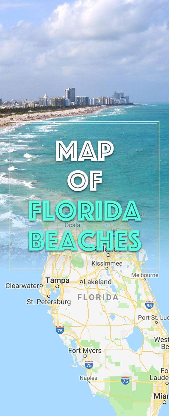 Map Of Florida Beaches Florida East Coast Beaches Map Of Florida Beaches Florida West Coast Beaches