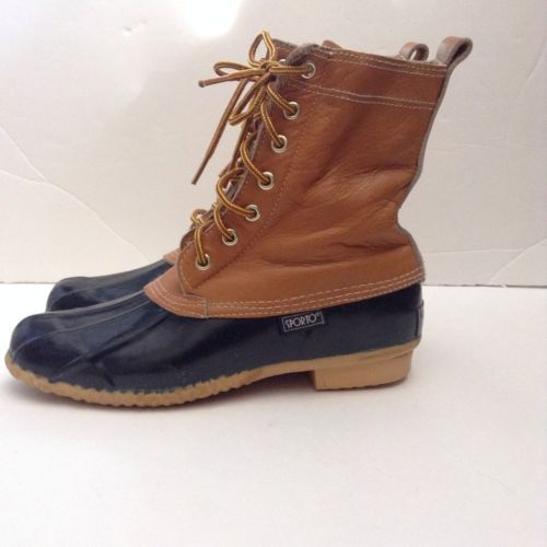 Sporto Duck Boots Size 9 Men's Rain Hunting Insulated Tan Navy ...