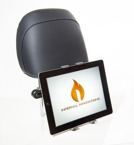 "#1 Voted Car Tablet Headrest Mount | Mountster SR Headrest Tablet Mount | Durable & Robust | iPad/iPad Mini/iPad Air/Samsung Galaxy & Many Other Tablets | Car Seat Tablet Holder | Metal Arms Adjust 5.75""- 8"" | Suitable 4 Tablets 7""-10.1"""