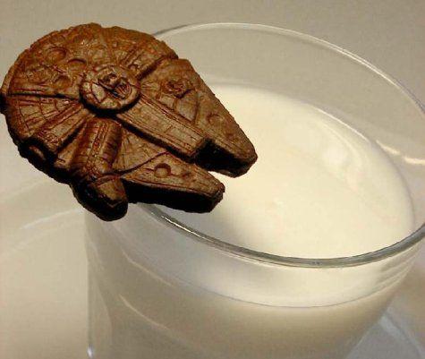 Millennium Falcon Cookie + Milk