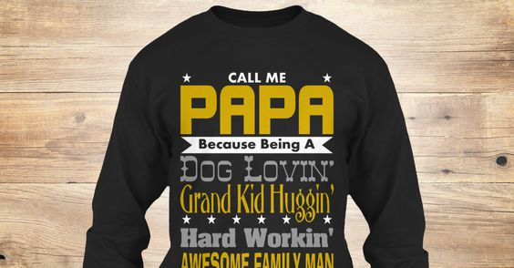 On Sale! Call Me PAPA Long Sleeve Tees and T-shirts. #grandfather #dad
