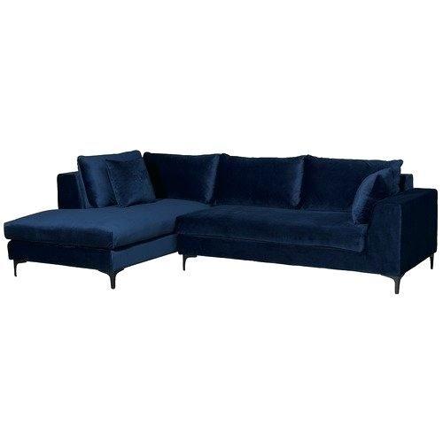 Bildresultat For Blue Velvet Corner Sofa Blue Corner Sofas Corner Sofa Living Room Living Room Decor Inspiration