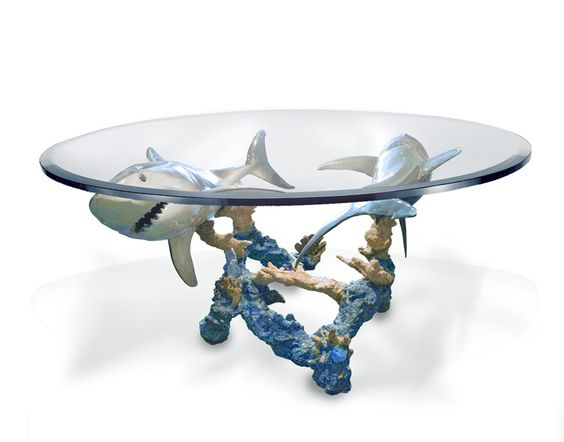 Wyland Feeding Frenzy Dinning Table Is An Amazing Site In