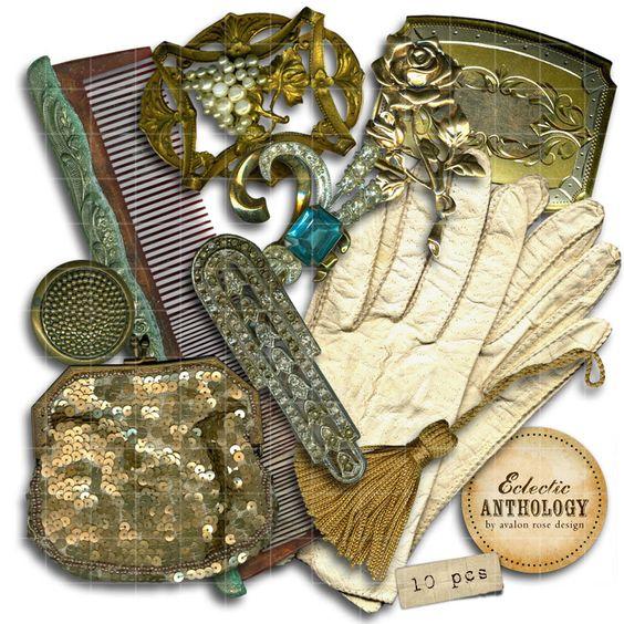 Vintage Gilded Vanity RoyaltyFree Graphics